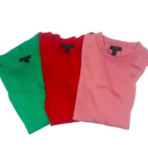 3 J. Crew Merino Wool Tippi Sweaters